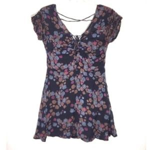 FREE PEOPLE YOURS TRULY FLORAL PRINT DRESS SIZE 4